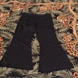 Cache Black Satin Wide Leg Pants